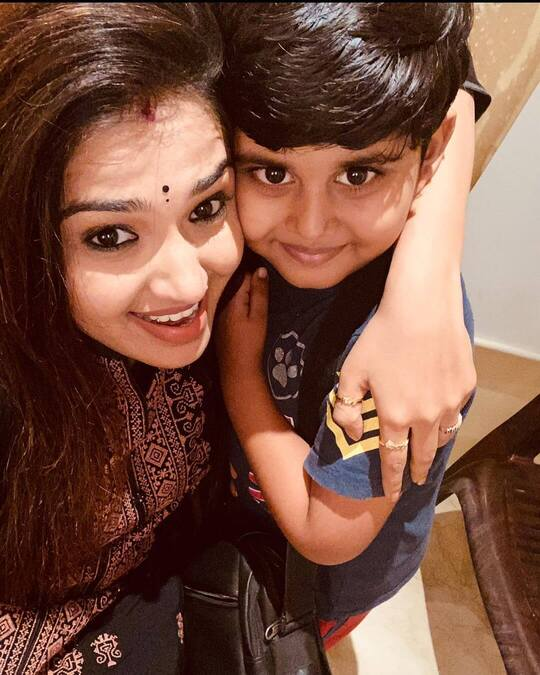 Vidhya Mohan with Son